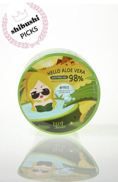 Silnie nawilżający żel Aloe Vera 98% (Hello Aloe Vera Soothing Gel) Y.E.T .