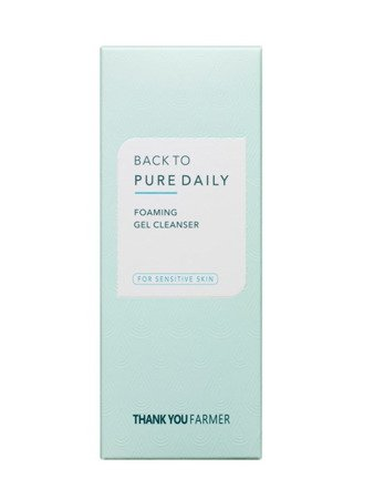 Delikatny żel myjący do twarzy (Back To Pure Daily Foaming Gel Cleanser) Thank You Farmer