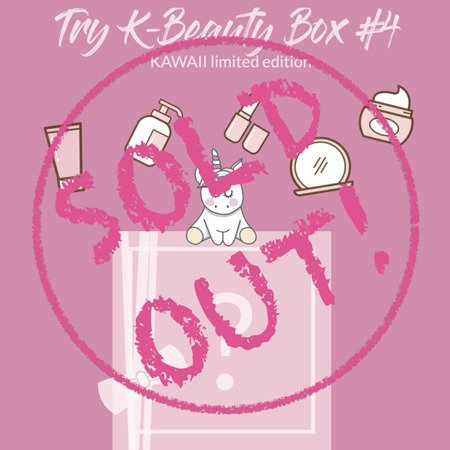 Try K-Beauty KAWAII Box #4 PRESALE - limited edition